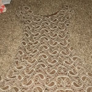 Dresses & Skirts - brown and white paisley dress